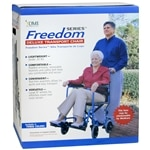 Duro-Med Folding Transport Chair Aluminum Ultra Light Weight, Royal