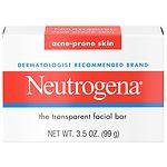 Neutrogena Transparent Facial Bar, Acne-Prone Skin Formula Soap- 3.5 oz