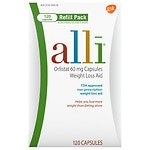 Alli Orlistat 60mg Capsules Weight Loss Aid Refill- 120 ea