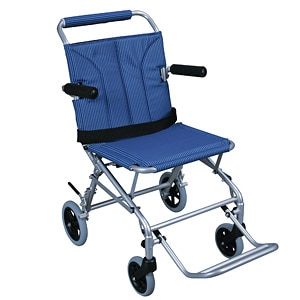 Drive Medical Super Light Folding Transport Wheelchair with Carry Bag, 18 Inch, 1 ea