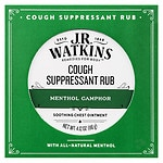 J.R. Watkins Menthol Camphor Medicated Cough Suppressant Rub- 4.12 oz