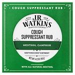 J.R. Watkins Menthol Camphor Medicated Cough Suppressant Rub- 4.12 oz