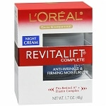 L'Oreal Paris Revitalift Complete Anti-Wrinkle & Firming Moisturizer Night Cream- 1.7 oz