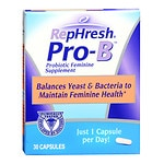 RepHresh Pro-B Probiotic Feminine Supplement, Capsules- 30 ea