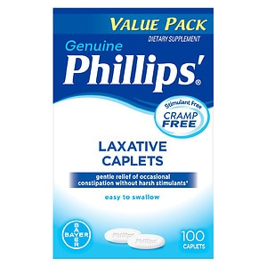 Phillips Laxative Dietary Supplement, Caplets- 100 ea