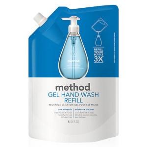 method Gel Hand Wash Refill, Sea Mineral- 34 fl oz