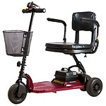 Shoprider Echo 3 Wheel Scooter, Red- 1 ea