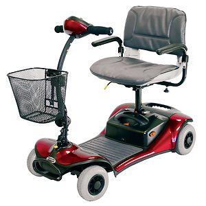 Shoprider Dasher 4 Wheel Scooter, Red-Blue-Champagne