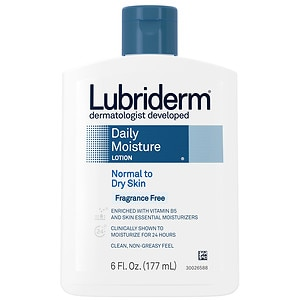 Lubriderm Daily Moisture Lotion for Normal to Dry Skin, Fragrance Free