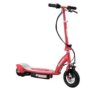 Razor E100 Electric Scooter, Red Ages 8+- 1 ea