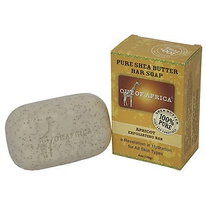 Out Of Africa Pure Shea Butter Bar Soap, Exfoliating Bar, Apricot