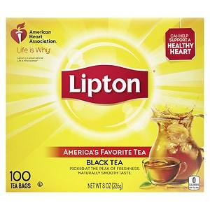 Lipton Black Tea Bags, 100 pk- .08 oz