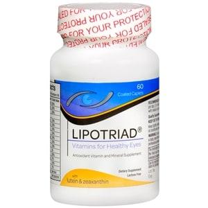 Lipotriad Eye Vitamin & Mineral Supplement AREDS Formula- 60 ea