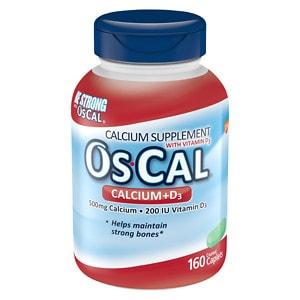 Os Cal Calcium 500mg with Vitamin D3 200 IU, Caplets