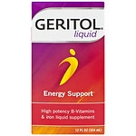 Geritol Liquid High Potency Vitamin & Iron Supplement, with Ferrex Tonic- 12 fl oz