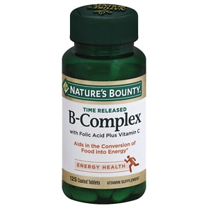 Nature's Bounty B-Complex with Folic Acid plus Vitamin C, Tablets- 125 ea