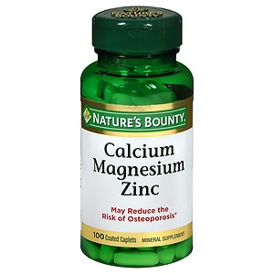 Nature's Bounty Calcium Magnesium Zinc, Tablets- 100 ea