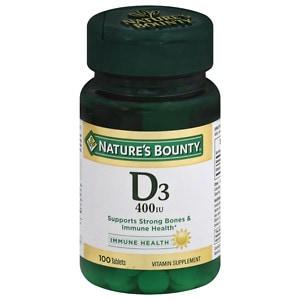 Nature's Bounty D-400 IU, Tablets- 100 ea