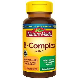 Nature Made B-Complex with Vitamin C, Caplets- 100 ea