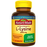 Nature Made Extra Strength L-Lysine, 1000 mg Tablets