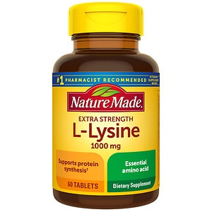 Nature Made Extra Strength L-Lysine, 1000 mg Tablets- 60 ea