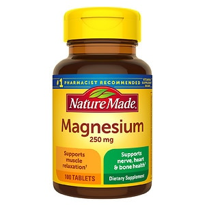 Nature Made Magnesium, 250mg, Tablets- 100 ea