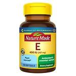 Nature Made Vitamin E, 400 IU, Dietary Supplement Liquid Softgels- 100 ea
