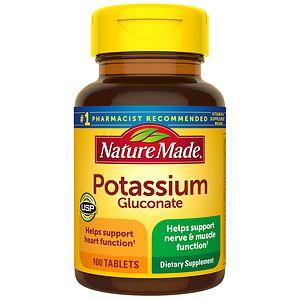 Nature Made Potassium Gluconate, 550 mg, Tablets- 100 ea