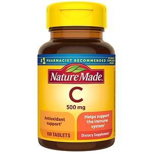 Nature Made Vitamin C, 500 mg, Tablets- 100 ea