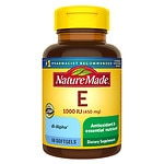 Nature Made Vitamin E 1000 IU, Liquid Softgels- 60 ea