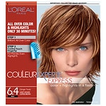 L'Oreal Couleur Experte Express Easy 2-in-1 Color + Highlights, Light Golden Copper Brown Ginger Twist 6.4