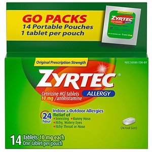Zyrtec Allergy Tablets, 24 Hour 10 mg- 14 ea