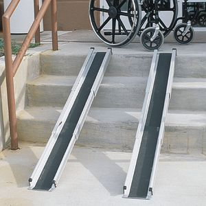 Duro-Med 5' Telescoping Adjustable Wheelchair Ramps- 1 pr