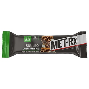 Met-Rx Big 100 Colossal Meal Replacement Bars, Crispy Apple Pie, 12 ea