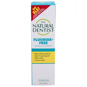 The Natural Dentist Healthy Teeth & Gums Fluoride Free Toothpaste, Peppermint Sage- 5 oz