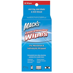 Mack's Lens Wipes Cleaning Towelettes- 30 ea