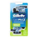 Gillette Custom Plus 3, Disposable Razors, Sensitive