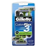 Gillette Custom Plus 3, Disposable Razors, Smooth