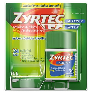 Zyrtec Allergy, 24 Hour 10 mg, Tablets