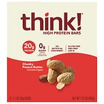 thinkThin High Protein Bars, Chunky Peanut Butter, 10 pk- 2.1 oz