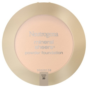 Neutrogena Mineral Sheers Powder Foundation, Natural Ivory 20, 1 ea