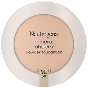 Neutrogena Mineral Sheers Powder Foundation, Soft Beige 50