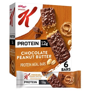 Special K Bars Protein Meal Bar 9.5oz, 6 boxes, Chocolate Peanut Butter, 1 case