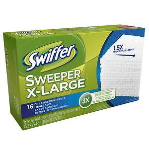 Swiffer Sweeper Professional Dry Sweep Cloths Mop, Broom Floor Cleaner Refills X Large, Unscented