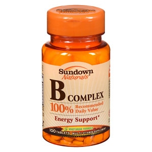Sundown Naturals B-Complex, Tablets- 100 ea