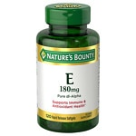 Nature's Bounty E-400 IU, Pure dl-Alpha, Softgels- 120 ea