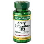 Nature's Bounty Acetyl L-Carnitine & ALA 200mg caps 30ct- 30 ea