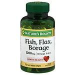Nature's Bounty Omega 3-6-9 Fish, Flax, Borage 1200mg Softgels