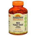 Sundown Naturals Red Yeast Rice, 1200mg, Capsules