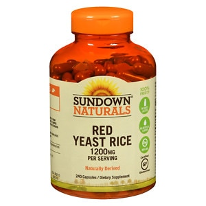 Sundown Naturals Red Yeast Rice, 1200mg, Capsules